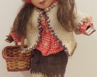 Little Match Girl OOAK art doll