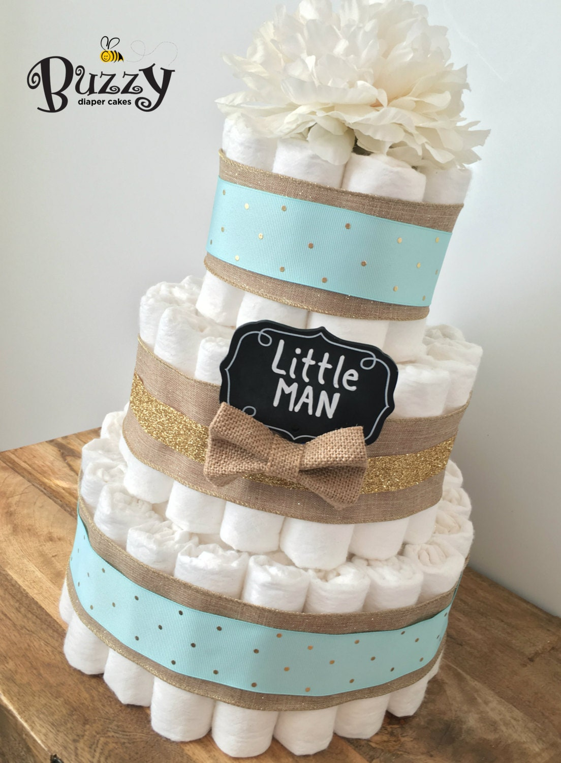 how to make a four tier diaper cake