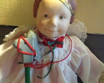 1985 SILVESTRI Christmas PAGENT Doll (Girl) Designed by Julie Good-Kruger