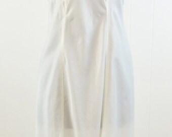 Vintage Barbizon White Nylon & Lace Full Slip Lingerie Nightgown Sz 16 lnl