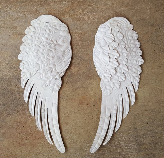 Rustic Angel Wings Wall Decor : Items similar to large angel wings metal wall