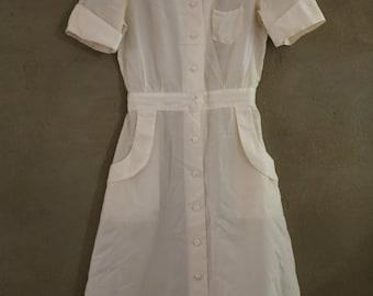 1940s Sheer Nylon Vintage Nurses Uniform RARE