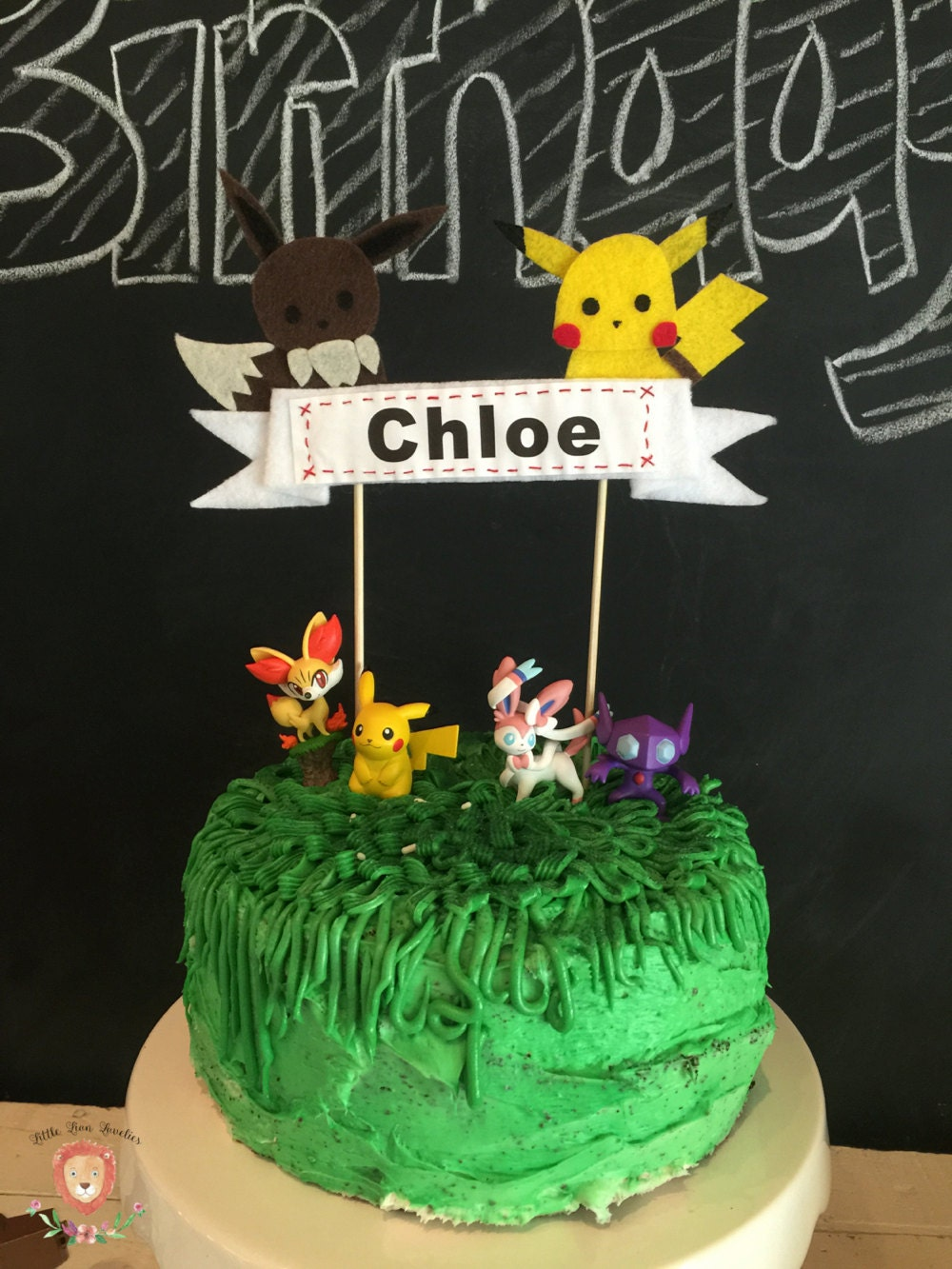 Pokemon Inspired Cake Topper Pikachu and Eevee Cake Topper