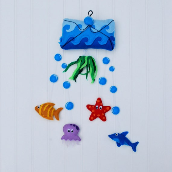 Items similar to under the sea baby mobile sea for Sea animal baby mobile