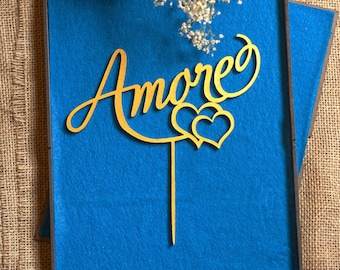 Amore | Wedding Cake Topper