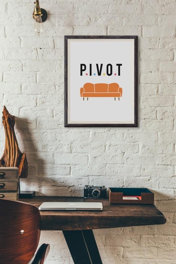 Wall Decor Ross : Ross geller friends tv pivot wall decor typography print