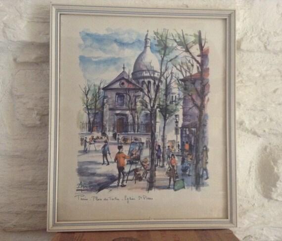 Paris place du tertre glise saint pierre de montmartre - Place saint pierre paris ...