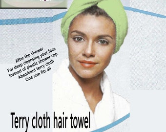 Terry cloth hair towel