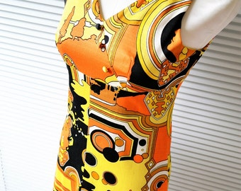 Vintage Ethnic Print Maxi Dress