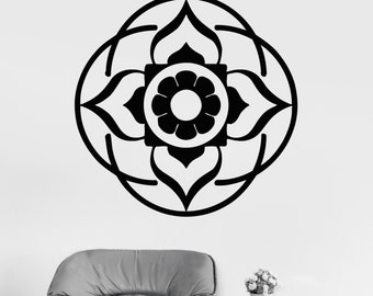 Wall Art Mural Mandala Yoga Lotus Buddha Cool Decor 2377di