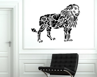 Wall Decal Lion Africa Animal Ornament Tribal Mural Vinyl Decal Sticker 1898dz