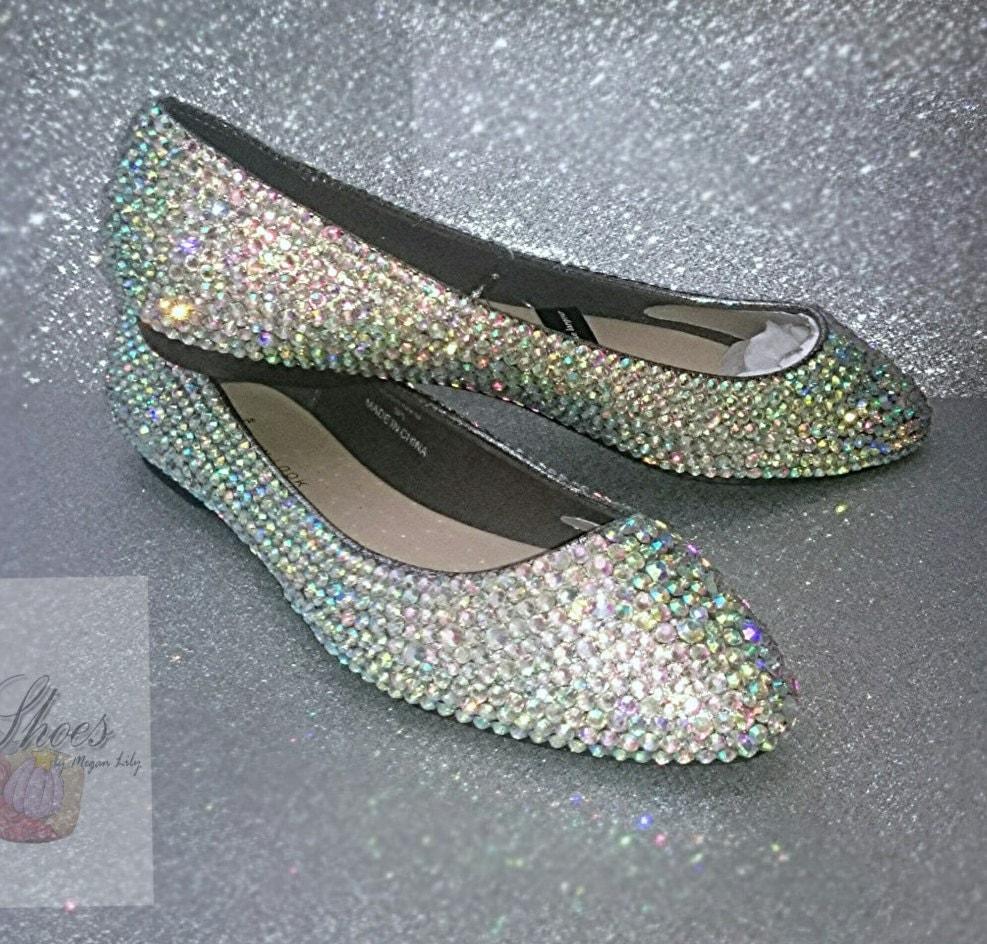 Rhinestone Flats For Wedding: Prom Shoes Bling Flat Shoes Wedding Bridal By MyLillieShoes