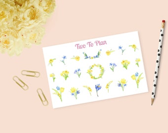 Spring Tulips Weekly Kit Decorative Stickers! Perfect for the Erin Condren Life Planner!