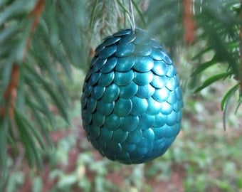 Dragon Egg Ornament - turquoise
