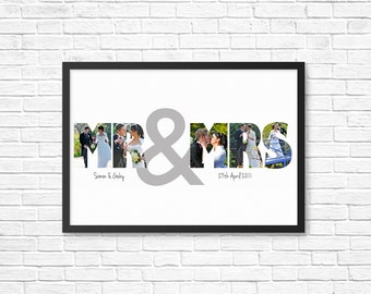 "PERSONALIZED ""Mr & Mrs"" PRINTABLE art  - Perfect Wedding/ Anniversary Gift/ Present"