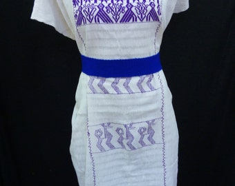 Mexico dress, Mexico embroider dress, Mexican embroidered dress, 100% cotton, Oaxaca huipil Vintage mexican G16