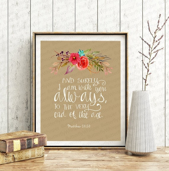 Religious Wall Decor For Nursery : Christian wall art scripture print nursery by butterflywhisper