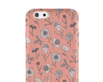 Pink woodland floral iPhone 6 case | iPhone 6 plus case | iPhone 5 case