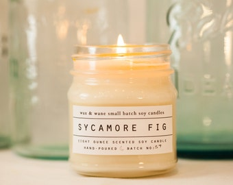 Sycamore Fig Soy Candle - Scented Candle - Unique Gifts for Her - Custom Gift