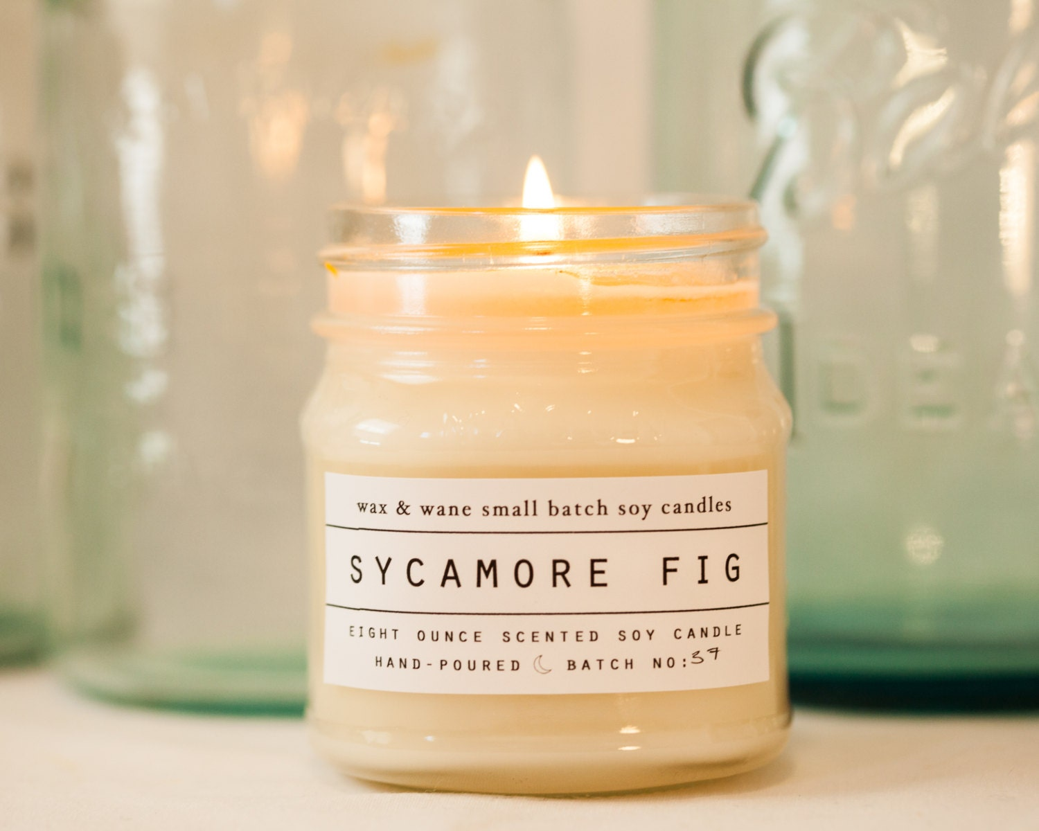 sycamore fig soy candle scented candle unique gifts for