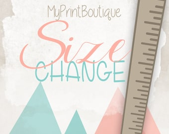 Change Size On Any Instant Download Print In This Shop -