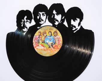 The Beatles - Sgt Peppers Vinyl Record Wall Art