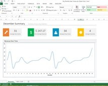 Etsy Monthly Sales Tracker - Microsoft Excel Spreadsheet Template - Sales Tracker
