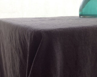 Linen Tablecloth, Dark Grey Tablecloth, Rectangle Tablecloth From Pure Linen,  Charcoal Grey Linen