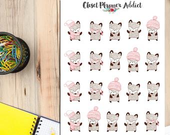 Cute Autumn Fox Planner Stickers | Fox Stickers | Cute Foxes | Autumn Fall Stickers (S-081)