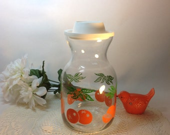 Juice Carafe Covered Retro Country Kitchen Decor FREE SHIPPING