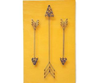 Tribal Nursery Art - Boy Nursery Decor - Nursery Decor - Arrows - Arrow Wall Art - Arrow Nursery Decor - Yellow Boy Nursery - Arrow Sign