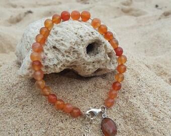 natural carnelian bracelet
