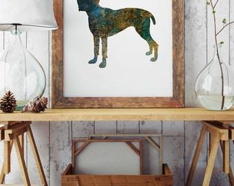 English Mastiff - Paper Print - Wall Poster - Dog Illustration -Beautiful Wall Poster