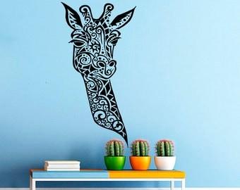 Wall Decal Giraffe Vinyl Sticker Decals Animals Jungle Safari Home Decor Nursery Bedroom Art Design Interior NS389