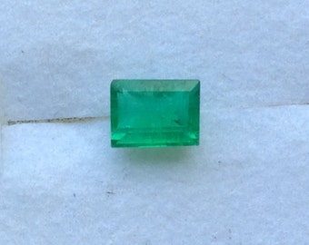 Green Emerald Rectangle Cut Baguette 5.1x3.2mm A Quality .56ct