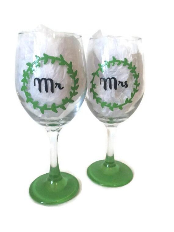 Wine glasses etsy wedding wine glasses hand painted custom wine