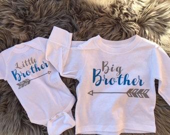 Big Brother Shirt | Little Brother Infant Bodysuit - Big Brother and Little Brother Matching Shirts