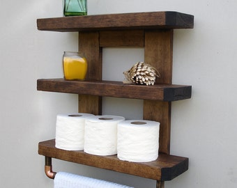 Wood Bathroom Shelf