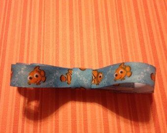 Nemo Loopy Ribbon Hair Bow Barrette