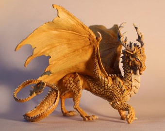 CUSTOM High-detailed Dragon sculpture comission made to order georgeous polymer clay