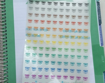 130 CLEAR Package Icons, Transparent Stickers, Planner Stickers, for use in any planner, calendar, diary or journal