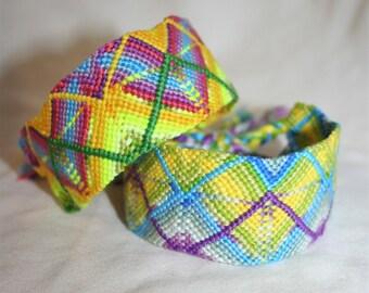 Gradient ZigZag Heart Friendship Bracelets