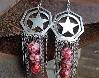 Silver & Beaded Dangle Earrings