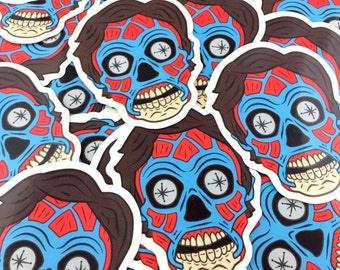 They Live - CONSUME - 3 Inch Deluxe Vinyl Sticker