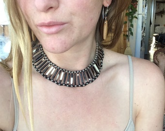 African Porcupine Quill Choker Necklace
