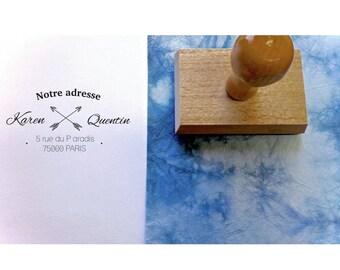 Buffer address KAREN & QUENTIN, buffer custom address, buffer address stationery wedding, custom tailored, buffer