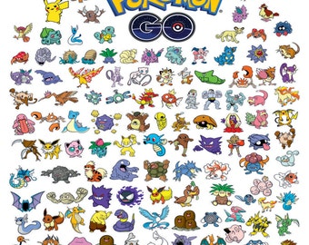 POKEMON GO - 145 Vector Models - The Most Complete Collection svg cdr ai pdf jpg files Instant Download Files for Laser Cutting Printing