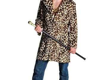 Gents Leopard Print PIMP Coat