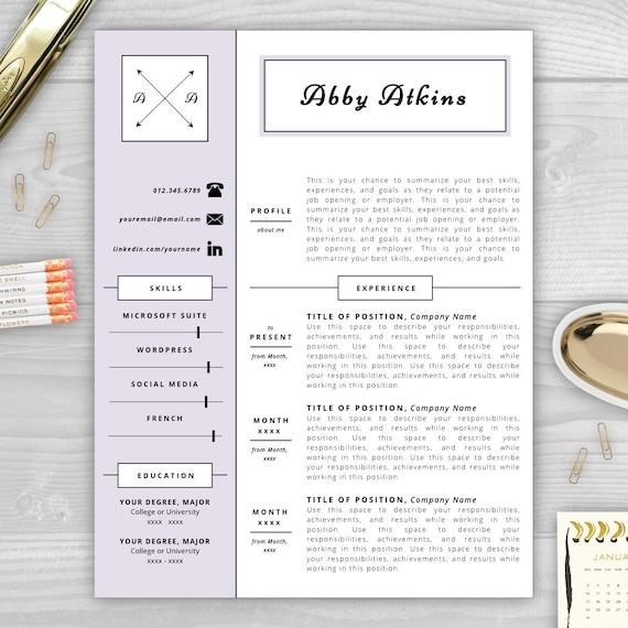 monogram resume template resume design by resumetemplatestudio. Black Bedroom Furniture Sets. Home Design Ideas