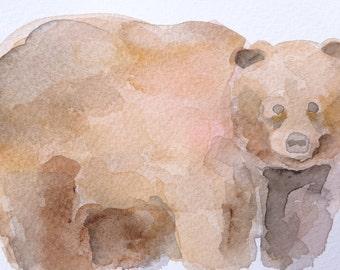 bear original watercolor